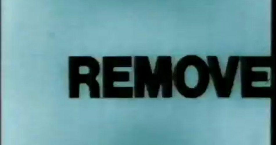 Word Movie, Paul Sharits, 1966, 3 '50' '